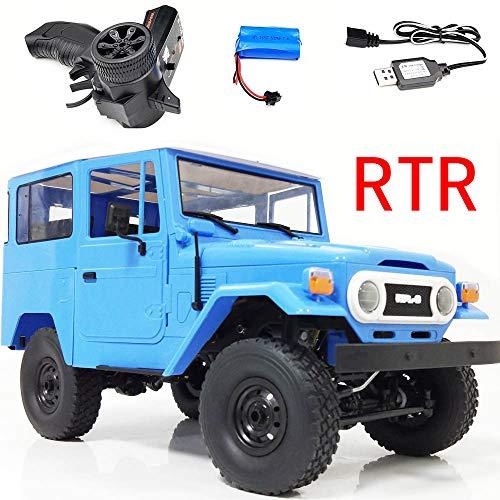 1/16 4WD 2.4G Militär LKW Buggy Crawler Off Road RC Auto Kinder Spielzeug, QHJ Fernbedienung Spielzeug, Um Ihr Kind Geburtstags Geschenk, Weihnachts Geschenk, Spielzeug Für Kinder (Blau)