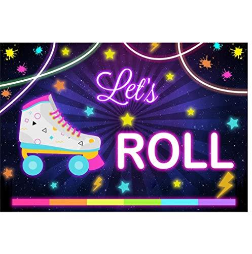 Let's Roll - Fondo de vinilo para fotografía (180 x 150 cm)