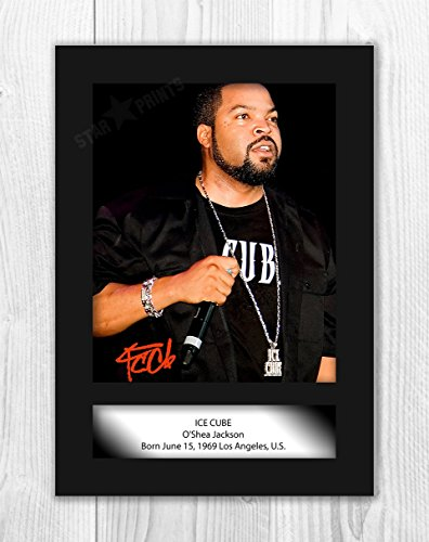 iFrame Ice Cube Poster Signed Autograph Reproduction Photo A4 Print(unframed)
