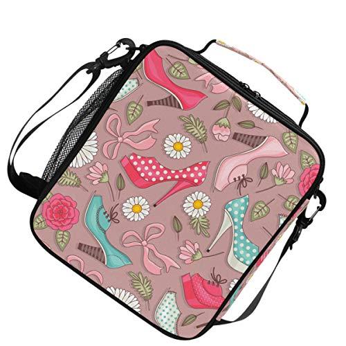 Verstellbarer Gurt Lunchpaket Schulter lustige Frauen High Heels Muster Schulter für Picknick isoliert wärmer Kühler