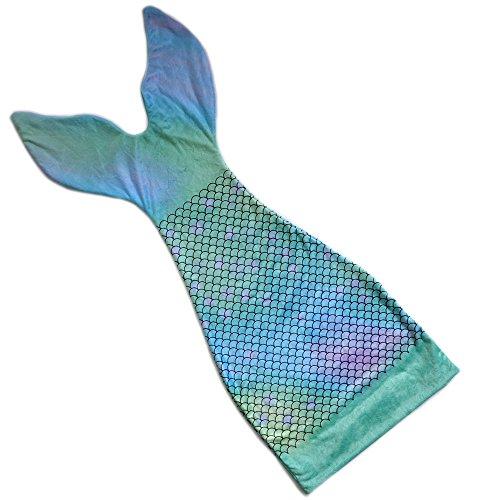 Millffy Super suave manta de cola de sirena para niños niñas vestido hasta saco de dormir el mejor regalo para Navidad (verde, tamaño del bebé 85 W36 cm)