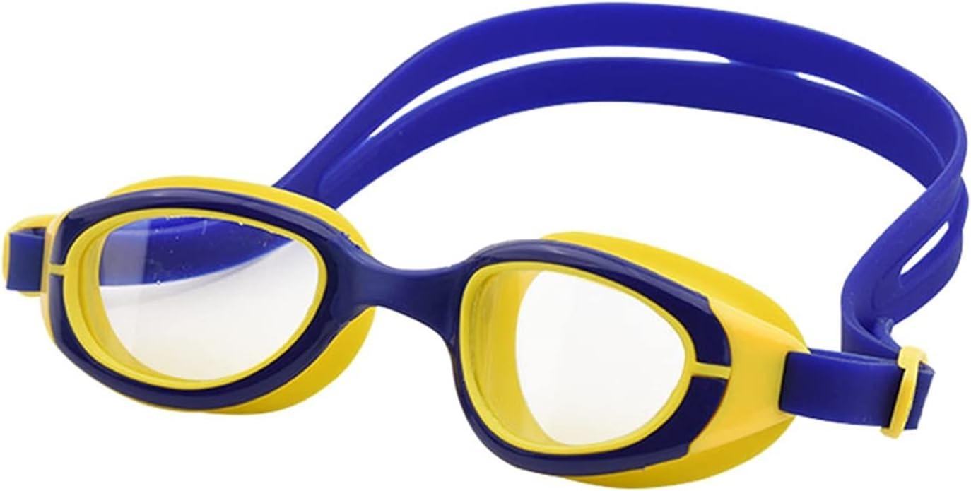 JINGGEGE Niños Gafas de natación Anti-Niebla Profesional Mascarilla Transparente Empresa de Agua Gafas para niños Silicone Silicone Gafas (Color : Blue with Yellow)