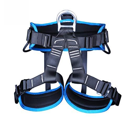 JTSYUXN Outdoor-Klettergurt, Halbkörper-Schutzgurte for Bergsteigen zum Bergsteigen Klettern, Bergsteigen nach außen Bandrettung, Erweiterung des Trainings, Abseilausrüstung (Color : Blue)