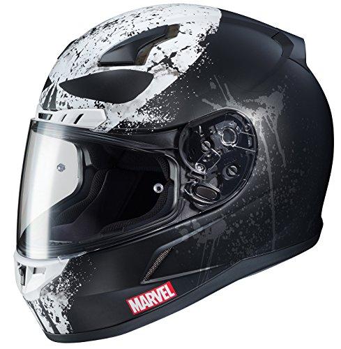 HJC Marvel Unisex-Adult Full face CL-17 Punisher 2 Motorcycle Helmet (MC-5SF, X-Large)