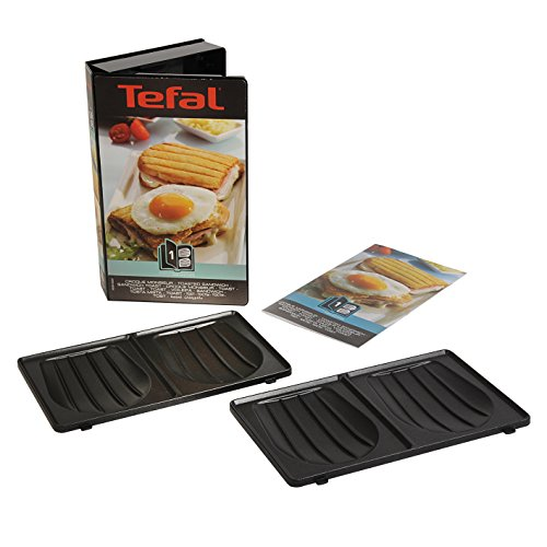 Tefal XA800112 Snack Collection - Zwei Teller Croque Monsieur + 1 Rezeptbuch