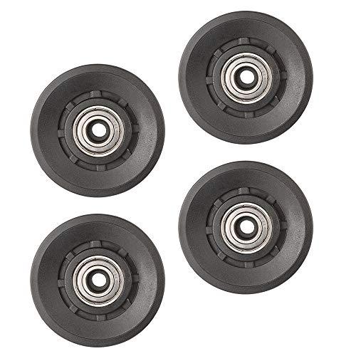 Topfinder 90mm Polea de Rodamiento Universal, 4Pcs Poleas Gimnasio, Rueda Universal para Maquina de Cables y Fitness Equipo, Parte de Puerta de Garaje (4Pcs)