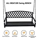 Hanging Bench Swing Outdoor - 2 Person Front Hanging Porch Swing...