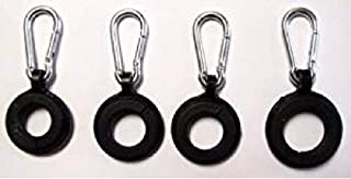 "USA Premium Store ""4 RINGS W/ CARABINER CLIPS"" flag pole hooks can hold 3 flags replacement part"