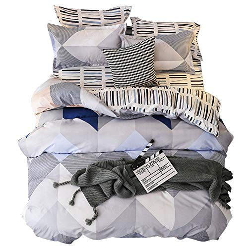 Demarkt Juego de colcha de 3 piezas para cama de matrimonio