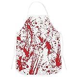 COWINN Halloween Schürze, Blutige Schürze Halloween Dekoration Party Verkleiden Metzger Kostüm für Damen Herren Erwachsene (Weiß)