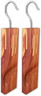 FMH Cedar Wood Hang UP – 100% Natural red Cedar Wood Planks with Hangar Hardware freshen Musty Closets and Protect Clothing from Moths and Mildew, Set of Two – by Furnish My Homestead