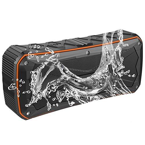 Altavoces portátiles Altavoz Bluetooth Resistente Al Agua, Altavoz Estéreo Portátil, 12 Horas de Tiempo de Juego, Alcance de Bluetooth de 33 Pies, Micrófono Incorporado, Altavoz Inalámbrico para Sende