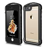 Snowfox iPhone 6 Plus / 6S Plus Waterproof Case, Outdoor Underwater Full Body Protective Cover Snowproof Dustproof Rugged IP68 Certified Waterproof Case for iPhone 6 Plus / 6s Plus (Black/Clear)
