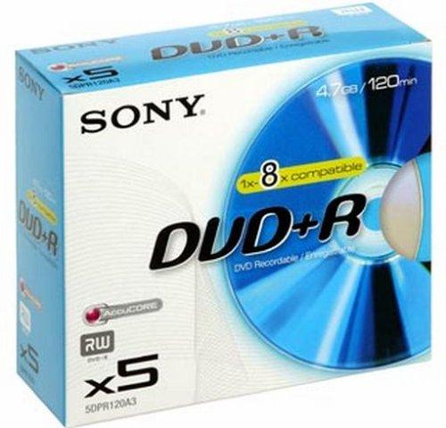Sony DPR120 DVD-Rohlinge DVD+R (4,7 GB) 5er Pack
