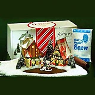 Department 56 North Pole Start a Tradition Set of 12 Candy Cane Lane Houses 56390