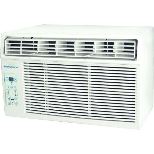 Keystone KSTAW08B 8,000 BTU 115V Follow Me LCD Remote Control Window-Mounted Air Conditioner, White