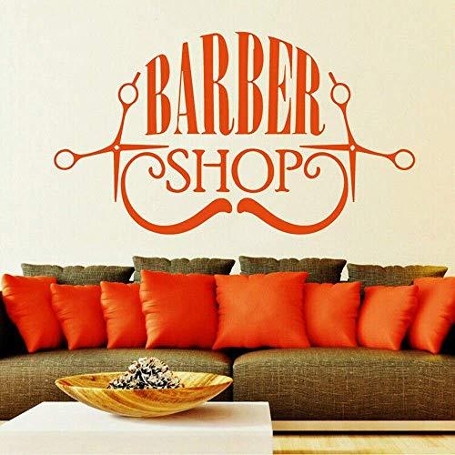Barbershop Snor Baard Schaar Vinyl Muursticker Decal Kapper Styling Home Decoratie Salon Accessoires 42x73cm