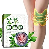 12PCS/BOX Miracle Knee Plaster Sticker, Knee Pain Relief Patch, Hot Moxibustion Plaster, Cervical Vertebra Pain Relief, Self-Heating, Reduce Inflammation for Muscles Joints