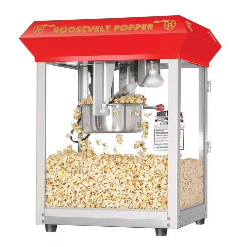 Product Image 10: 6010 Great Northern Red 8oz Roosevelt Antique Countertop Style Popcorn Popper Machine