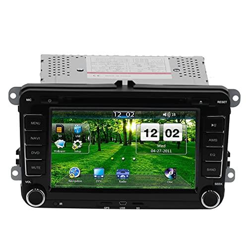 2DIN Car DVD Player, Doble 2 DIN 7 Pulgadas Car DVD CD Video Player Navegación GPS Reemplazo De Pantalla Táctil Para Altea/Toledo/Leon Ab/Altea XL Ab