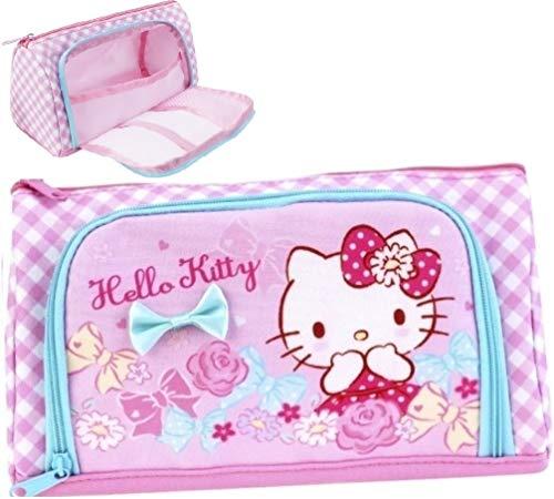 Hello Kitty Large Capacity Pen Pencil Holder Case Cosmetic Pouch Organizer Bag Multi-Purpose