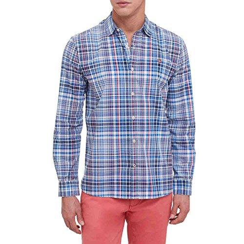 Napapijri Gardez Camisa Manga Larga, Multicolor (Check C15), Medium para Hombre
