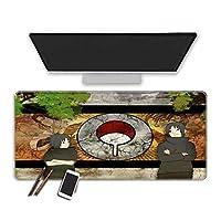 マウスパッド Naruto-ナルト-アニメマウスパッド300X800X3Mm高性能の滑らかな表面を備えた拡張された大型ゲーミングマウスパッド、耐久性のあるステッチエッジ特殊なテクスチャーのラバーベースイージーケアオフィスマウスマット-(D)