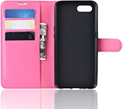 OPPO AX5S/OPPO A5S Flip Case,TenYll PU Leather Flip Cover Material Wallet case,Magnetic Closure,TPU bumper,Cover with Card Slots & Stand For OPPO AX5S/OPPO A5S -Rose red