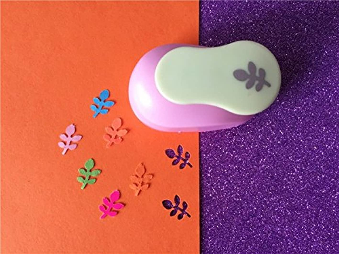 Fascola 5/8'' Paper Craft Punch,card Scrapbooking Engraving Kid Cut DIY Handmade Hole Puncher (Leaves) nocbirgxrcl411
