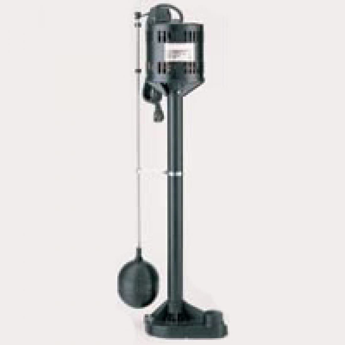 Star 3CEH 1//3 HP Thermoplastic Column Pedestal Sump Pump with Vertical Float Switch