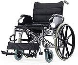 JYHS Fauteuil roulant autopropulsé pliable en aluminium avec freins à main...