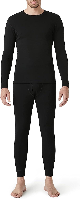 LAPASA Men's 100% Merino Wool Thermal Underwear Long John Set Lightweight Base Layer Top and Bottom M31
