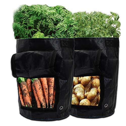 Sacchetti per la coltivazione di patate, confezione da 2 pezzi, da 7 litri