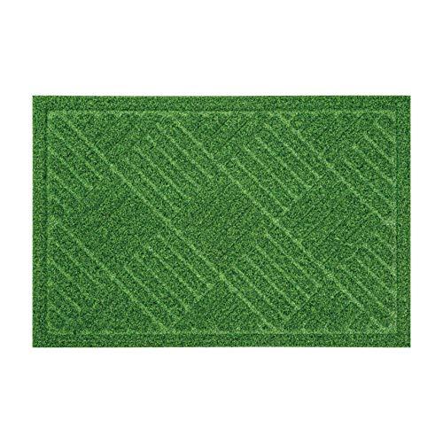 ベストコ 玄関マット 40×60cm グリーン 泥落とし 水洗いOK グラススタイルマット 芝生調 ND-612