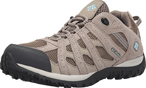 Columbia Redmond Waterproof, Zapatillas para Caminar Mujer, Beige (Pebble/Sky Blue), 39 EU