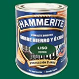BRUGUER HAMMERITE Esmalte Liso Brillante Verde 2,5 L, Negro, 2.5 l (Paquete de 1)