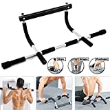 feeilty Iron Gym Pull Up Sit Up Door Bar Portable Chin-Up per Superiore Body Workout Doorway