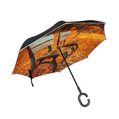 ISAOA un Paraguas Grande Puede Paraguas Resistente al Viento Doble Capa construcción...