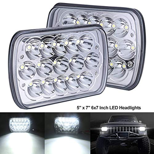 BAOLICY 5x7 7x6 In LED Headlights Dot Approved Rectangular H6054 Headlight 45W High/Low Beam Headlamps H4 9003 Plug for J e e p Off-Road Truck Chevy Ford with H6014 H6052 6054 H5054 H6054LL 69822
