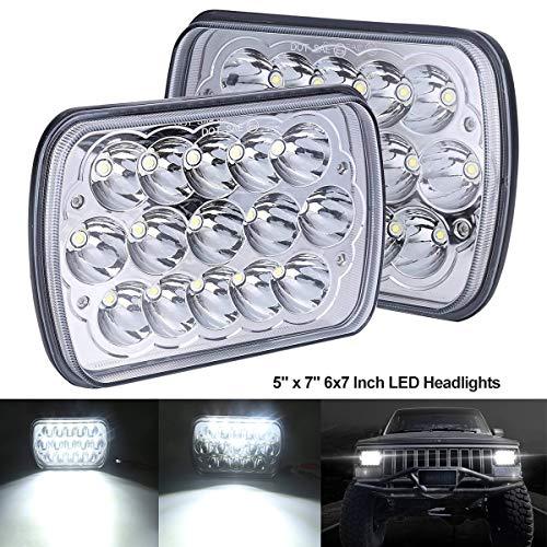 BAOLICY H6054 LED Headlights 5x7 7x6 Headlamp Hi/Low Sealed Beam H4 9003 Plug 6054 H5054 Compatible with Chevy S10 Blazer Express Van/Jeep Wrangler YJ XJ Cherokee Truck Ford Van