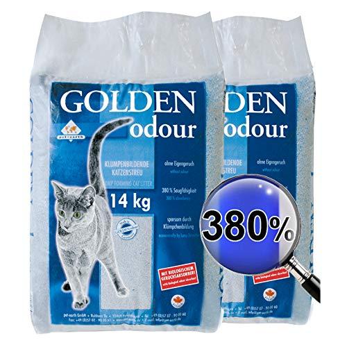 Golden Grey 2 x 14 kg Odour Katzenstreu Klumpstreu Streu geruchsneutral staubarm ohne Duft
