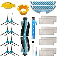 Accesorio para Cecotec Conga 1390 Cecotec Conga 1290 Robot Aspirador Repuestos Paquete de 1 Cepillo principal, 8 filtros Hepa, 8 cepillos laterales, 2 trapos de fregona, 2 herramientas de limpieza