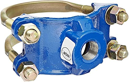 """high quality Smith-Blair - 31300025608000 Ductile Iron Saddle Clamp, Double 2021 Bale, 2"""" Pipe Size, 1"""" NPT Female Outlet high quality (Single Pack) outlet sale"""
