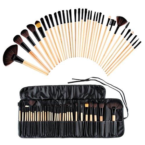 WMicroIT MT005 Set 32Pcs Pennello Cosmetico Trucco Brush Professionale Portabile Beauty Donna Superiore Cosmetic Make up Brushes Tools Kit Fondation Blush Brush [ IT Stock ]+ Bag