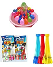 111 Pcs Water Balloon Happy Baby SELF Sealing Balloons Fill In 60 Seconds Easy Quick Summer Splash Fun Outdoor Backyard Kids And Adults Party Water Bomb Fight Games…