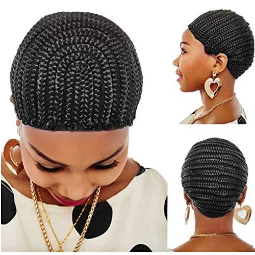 Black Braided Crochet Wig Cap Sew In Cap Cornrows Hair Weaves for Braids Making Wig Easier Cap
