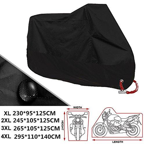 ANFTOP Motocicleta Funda para Moto 3XL Negro Color Agujeros de la Cerradura...