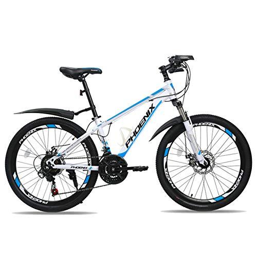 JHTD Bici per Bambini, Bicicletta per Bambini, 22 Pollici, Ragazzi e Ragazze in Bicicletta, Adatto per Bambini 10-16 Anni, Blu, Bicicletta Rossa