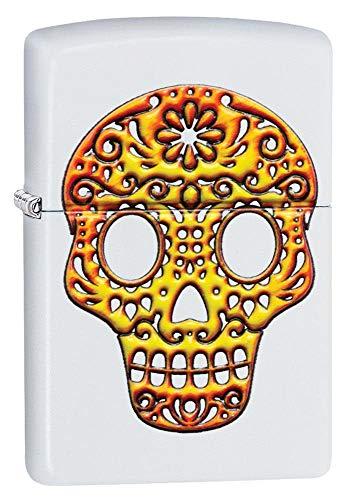 Zippo Sugar Skull Pocket Lighter, White, One Size