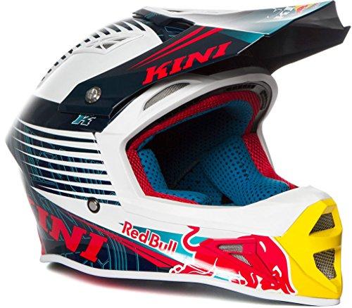 Kini Red Bull Competition Helmet V1.6 – Motorcross Helm, Enduro, MTB, Off-Road, Neck-Brace Optimiert, EPS-Innnenschale, Waschbare Polster (XXL/64-65cm)
